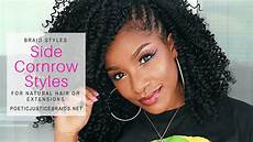 side cornrow styles natural extensions how to tutorials