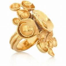 yves laurent arty gold flower ring international