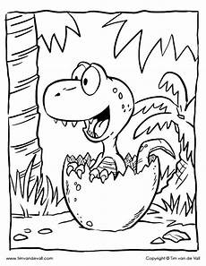 baby dinosaur coloring page color the t rex hatchling