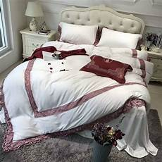 tencel luxury embroidered bedding silky smooth duvet cover bedsheet