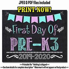 day worksheets 18252 day of pre k3 sign day of school sign pre k3 chalkboard 1st day of pre k3