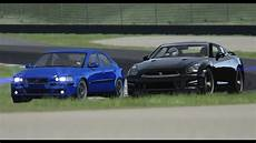 schweizer let s play assetto crosa volvo s60r vs nissan