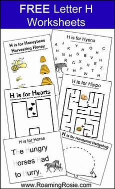 letter worksheets for nursery 23096 free printable letter h alphabet activities worksheets from roaming rosie alphabet activities