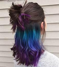 coloration cheveux bleu photo des cheveux bleus discrets