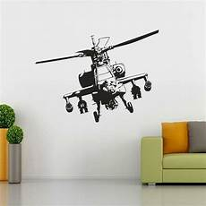 home decor wall decals apache helicopter decal graphic removable wall sticker