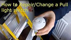 how to repair change a pull cord light switch video explanation youtube