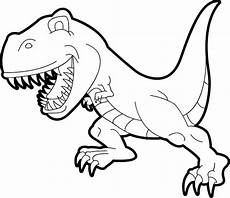 simple t rex coloring pages dinosaur coloring pages