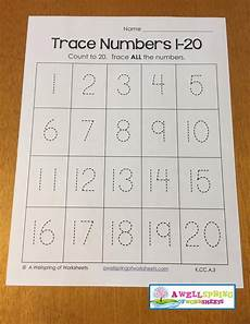 tracing numbers 1 20 worksheets blog a wellspring