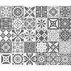 30 Stickers Carreaux De Ciment Nuances De Gris Varsovie
