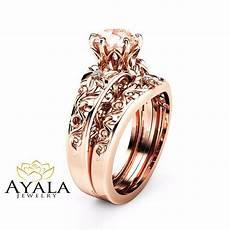 morganite wedding ring 14k rose gold morganite rings unique engagement rings ebay