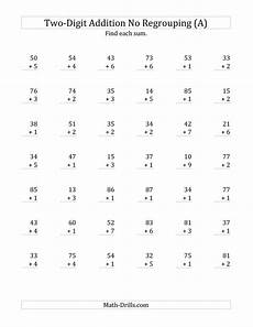 addition without regrouping grade 1 2 digit plus 1 digit addition with no regrouping a math