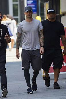 adam new york adam levine was seen out in new york donut