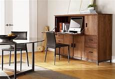 hidden home office furniture linear office armoires mid century modern home office