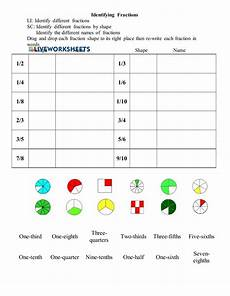 identifying fractions interactive worksheet