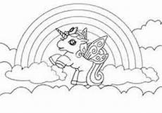 Ausmalbilder Pferde Din A4 Unicorn With Rainbow Coloring Page For