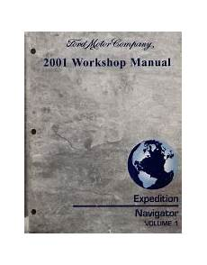 free auto repair manuals 2001 ford expedition on board diagnostic system 2001 ford expedition lincoln navigator workshop manual 2 volume set