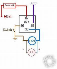 12v computer fan wire diagram 12v fan relay wiring