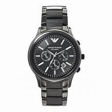 ar1451 emporio armani mens black ceramic chronograph