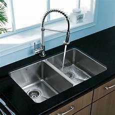 vigo premium collection double kitchen sink faucet