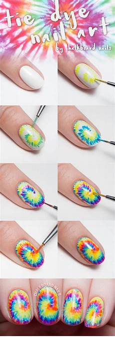 20 easy step by step summer nail art tutorials for
