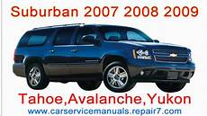 manual repair autos 2008 chevrolet tahoe free book repair manuals chevrolet suburban 2007 2008 2009 repair manual and workshop tahoe yukon avalanche mp4 youtube