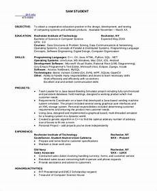 resume skils for computer science sle computer science resume 8 exles in word pdf