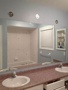 large bathroom mirrors ideas large bathroom mirror redo to framed mirrors and cabinet hometalk