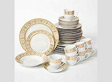Amazon.com   Brylanehome 40 Pc. Golden Ceramic Dinnerware