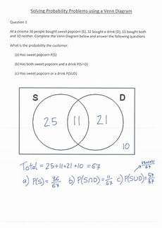 venn diagrams probability worksheets with answers 5956 venn diagram lesson by s curzon teaching resources tes