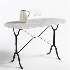 la table de jardin ou table de bistrot ovale plateau