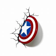 3d light fx marvel captain america shield 3d deco led wall light walmart com