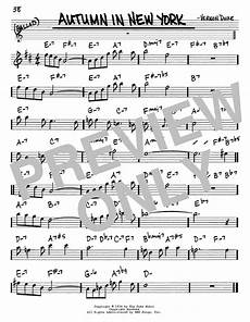 autumn in new york sheet music direct