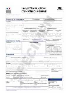 demande d immatriculation ouest cerfa 13749 04 demande de certificat d immatriculation pour un v 233 hicule neuf