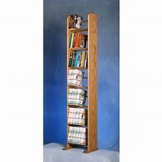 wood shed 7 shelf solid oak dvd vhs rack various finishes