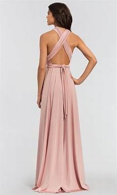 kleinfeld convertible bodice long bridesmaid dress