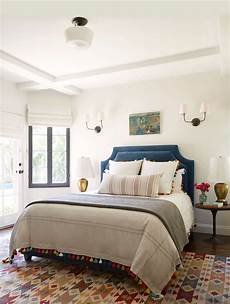 a simple eclectic guest bedroom henderson