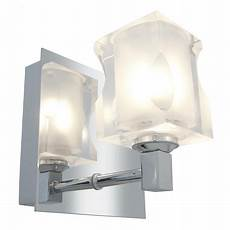 access chrome frosted crystal glasa 173 e 1 light bathroom sconce chrome 23916 ch fcl from glas e