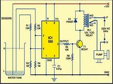 555timer based water level controller free electronics circuits in 2019 electronic