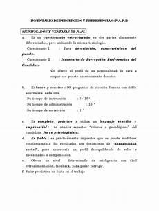 Test Papi Doc Cuestionario Cognici 243 N