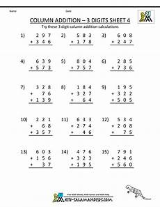 worksheets on 4 digit addition 9173 free printable addition worksheets column addition 3 digits carrying 4