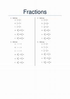 four operations with fractions worksheet teaching resources