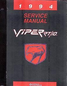 free auto repair manuals 1994 dodge viper head up display 1994 dodge viper body chassis drivetrain electrical shop manual