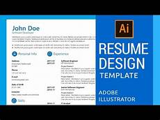 how to create resume cv template in adobe illustrator youtube