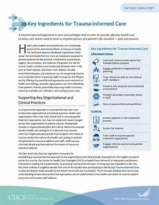 key ingredients for trauma informed care center for health care strategies