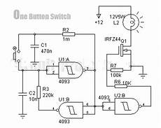 Digital Key With Just One Button Circuit Diagram