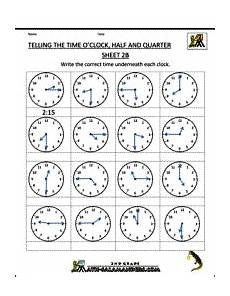 time worksheets grade 3 printable 3448 telling the time o clock half and quarter sheet 2b 1 sınıf matematik 3 sınıf matematik