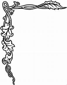 Jugendstil Malvorlagen Word Decorative Page Borders Rahmen 2 Ausmalbild Malvorlage