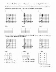 worksheet t3 46 writing exponential equations using a graph finding the rate of change fill