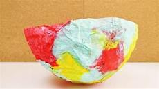 pappmaschee schale mit luftballon dekoschale basteln