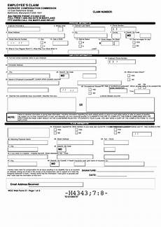 fillable employee s claim form workers compensation